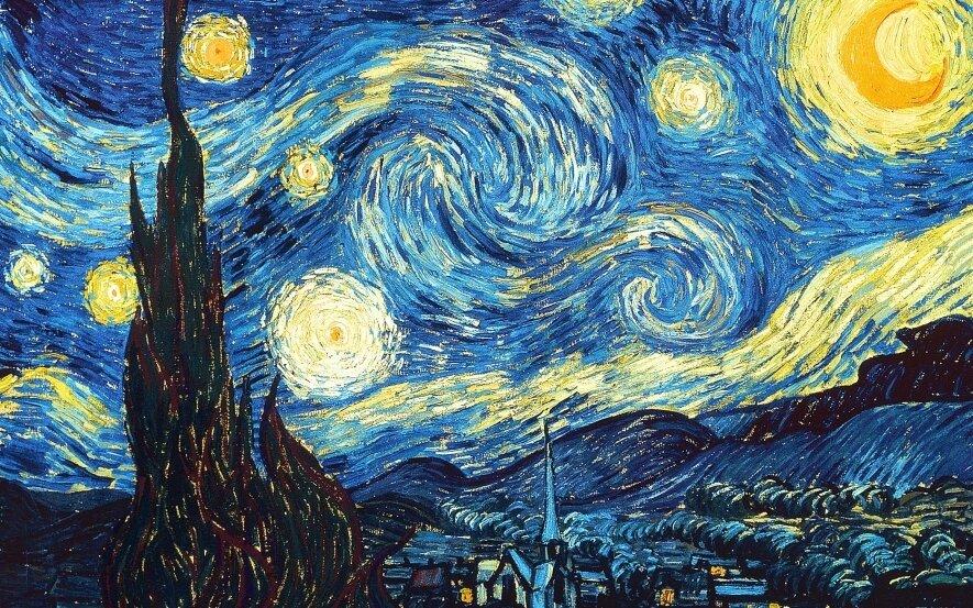 Tapome V. van Gogh Žvaigždėtą naktį