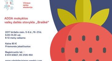 """8-12 m. vaikų dailės stovykla """"Braškė"""""""