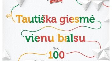 Lietuvos Himno giedojimas ant Veršvų piliakalnio