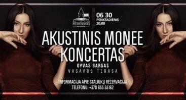 Akustinis MONEE koncertas