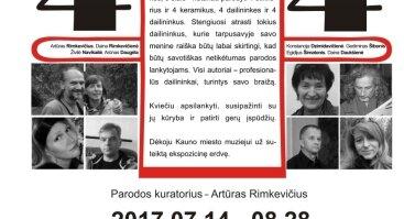 """KERAMIKOS IR STIKLO MENO PARODA """"4+4"""" NEPALIKS ABEJINGŲ"""