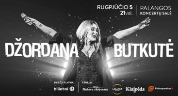 Džordanos Butkutės koncertas Palangoje