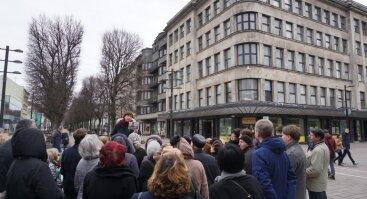 Architektas V. Landsbergis-Žemkalnis Laikinojoje sostinėje