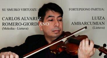 Smuiko muzikos koncertas su Carlosu