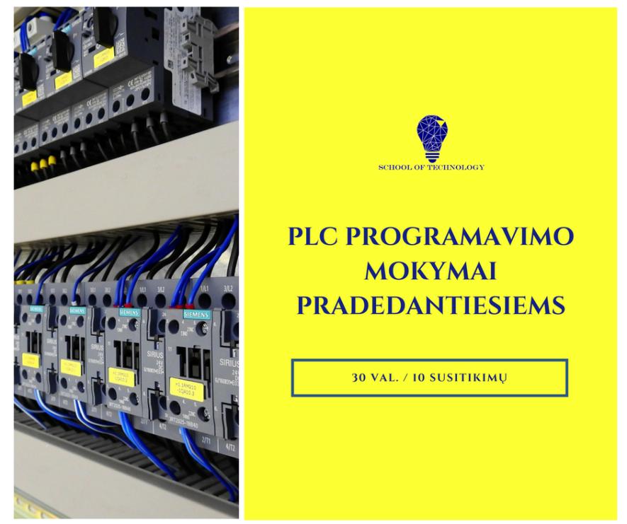 Pramoninės automatikos valdymo įrangos (PLC) programavimo mokymai (+ praktika įmonėje)