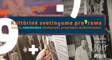 Kultūrinės svetingumo programos moksleiviamas