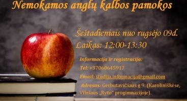 Nemokamos anglų kalbos pamokos Vilniuje !