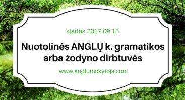 Nuotolinės anglų kalbos gramatikos arba žodyno dirbtuvės