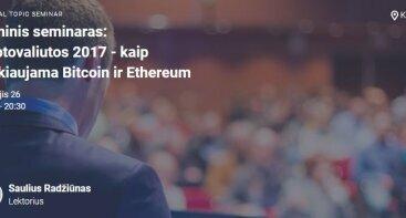 Kriptovaliutos 2017 - kaip prekiaujama Bitcoin ir Ethereum