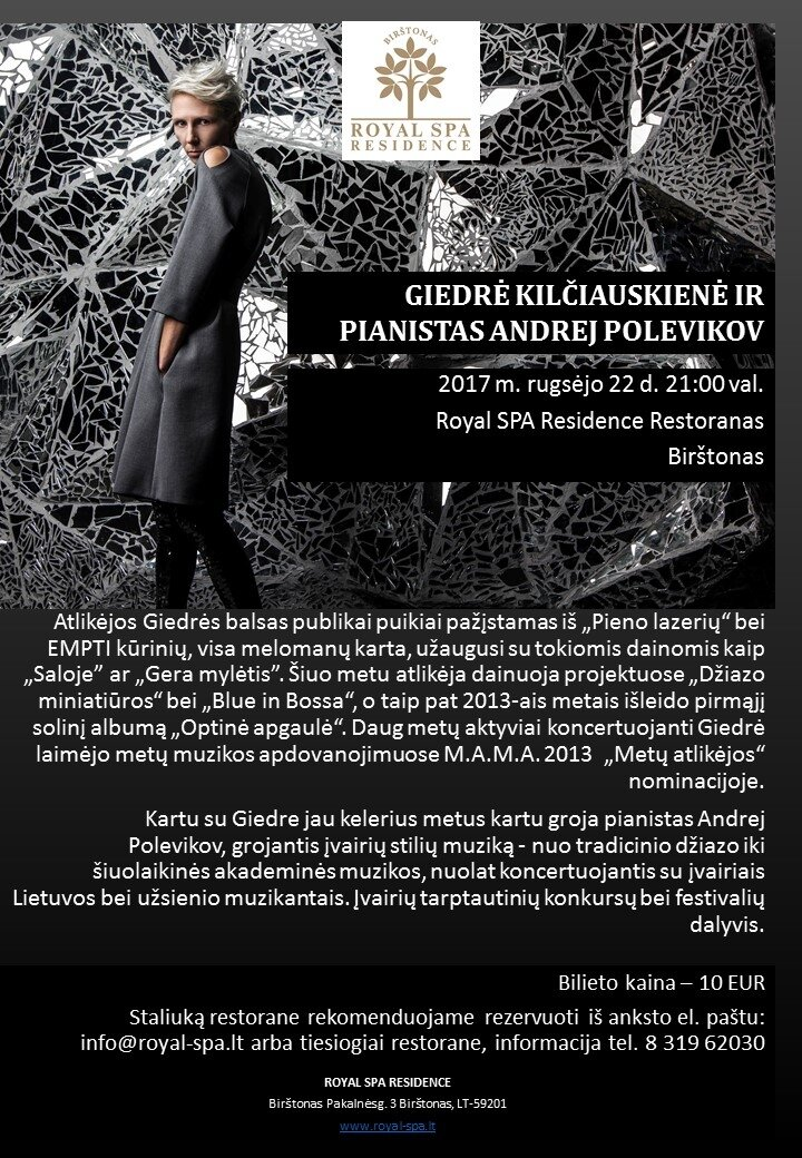 Giedrė Kilčiauskienė ir pianistas Andrej Polevikov