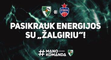 """Kauno """"Žalgiris"""" - Maskvos CSKA"""