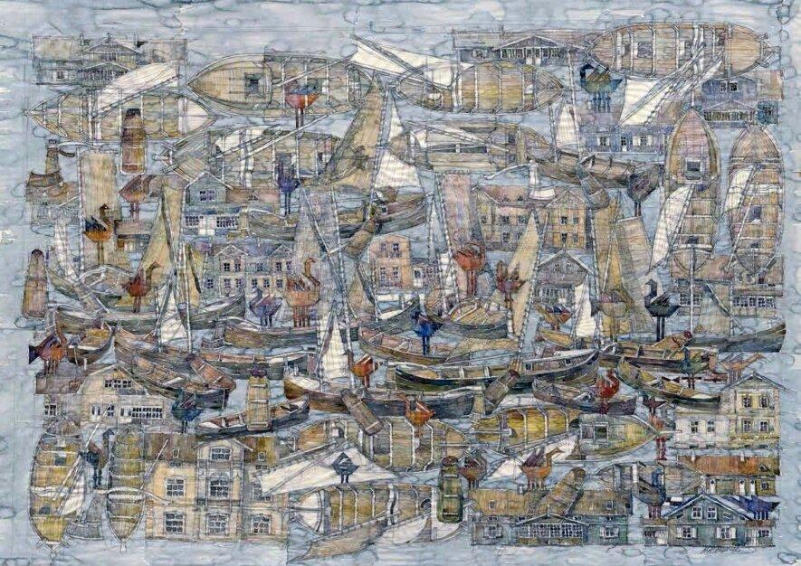 """Jūratės Bučmytės ir Alberto Krajinsko akvarelių paroda """"Pokalbis su Čiurlioniu"""""""