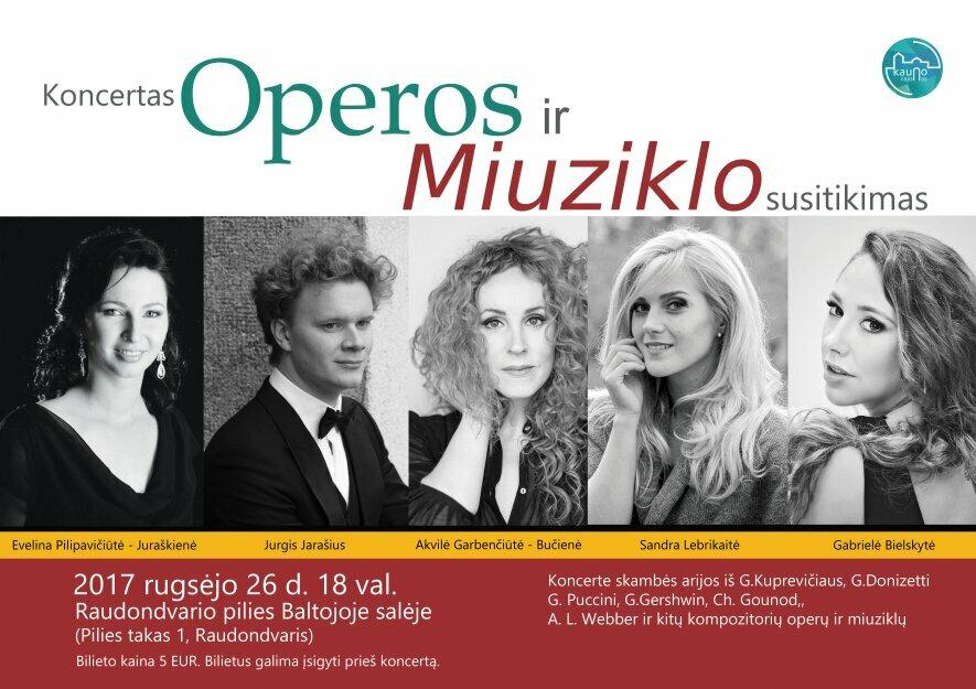 """Koncertas """"Operos ir Miuziklo susitikimas"""""""
