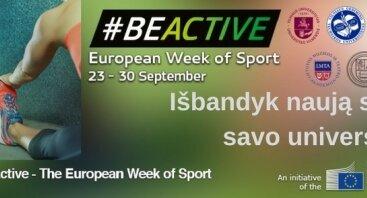 Atrask neatrastą sportą savo universitete! #BeActive2017