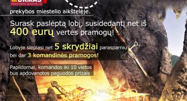 """Lobio paieškos """"Rask lobį Kaune"""""""