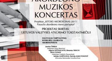 """Projektas """"KITOKS AKORDEONAS 2017: pasaulio akordeono meno paslaptys"""""""