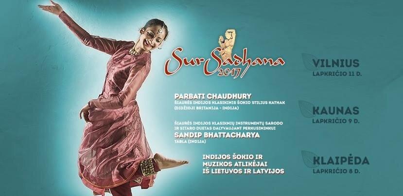 """IX tarptautinis Indijos klasikinio meno festivalis """"SurSadhana"""""""