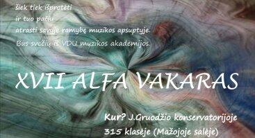 XVII Alfa Vakaras