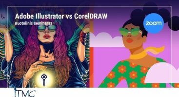Adobe Illustrator vs CorelDRAW (nuotolinis)