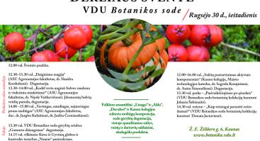 Derliaus šventė VDU Botanikos sode