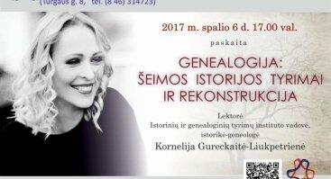 """Paskaita """"Genealogija: šeimos istorijos tyrimai ir rekonstrukcija"""""""