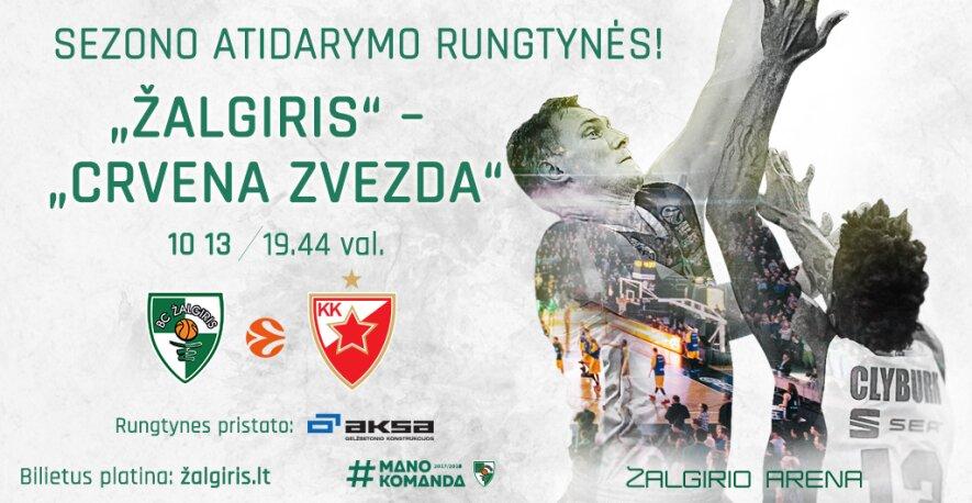 "Eurolyga: Kauno ""Žalgiris"" – ""Crvena Zvezda"""