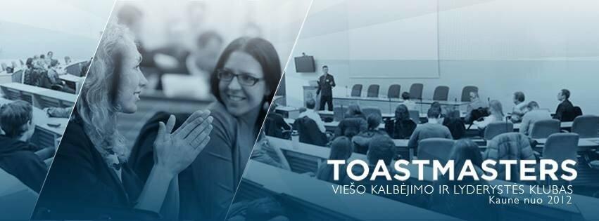 154-asis klubo Toastmasters Kaunas viešojo kalbėjimo renginys