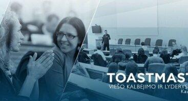 183-asis klubo Toastmasters Kaunas viešojo kalbėjimo renginys