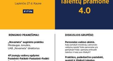 """Personalo specialistų diena """"Talentų pramonė 4.0"""""""