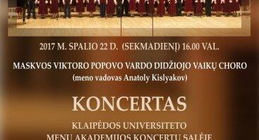 Maskvos Viktoro Popovo vardo didžiojo vaikų choro koncertas