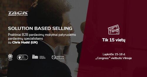 Solution Based Selling - praktiniai B2B pardavimų mokymai