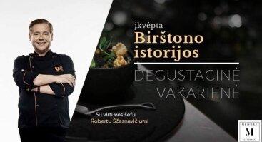 Degustacinė vakarienė, įkvėpta Birštono istorijos