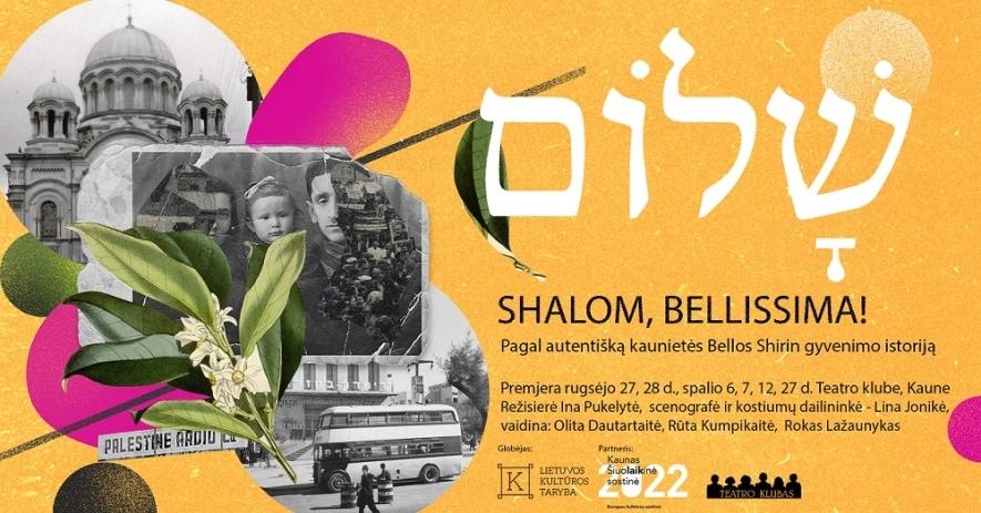 """Spektaklis """"Shalom, Bellissima!"""""""