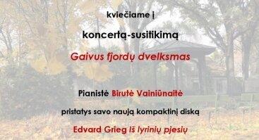 """Koncertas-susitikimas """"Gaivus fjordų dvelksmas"""""""