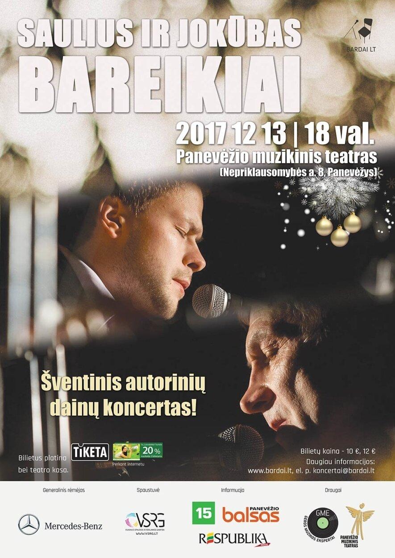 """Sauliaus ir Jokūbo Bareikių bendra muzikinė programa """"Antakiai"""""""
