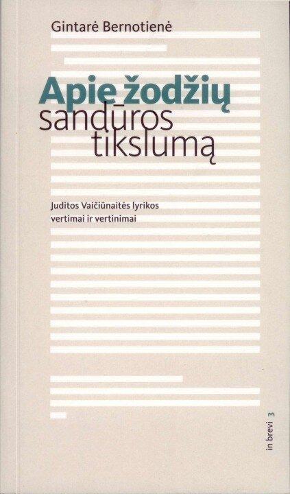 Monografijos apie J. Vaičiūnaitę pristatymas
