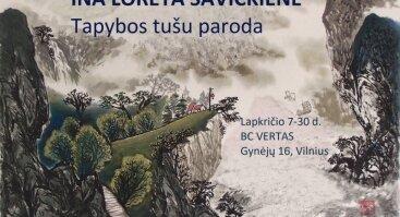 """Tapybos tušu paroda """"Žvilgsnis į Rytų Azijos tradiciją"""""""