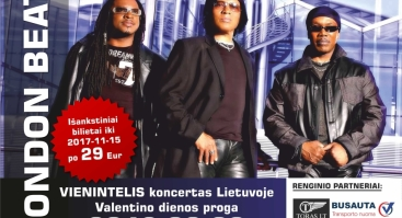 LONDON BEAT Panevėžyje vienintelis koncertas