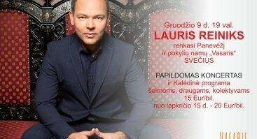 LAURIS REINIKS su Kalėdine programa. PAPILDOMAS KONCERTAS