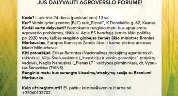 Pirmasis agroverslo forumas
