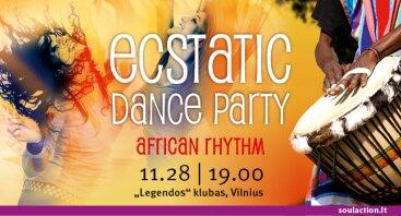 Ecstatic Dance Party African Rhythm vakarėlis