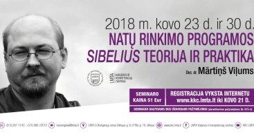 Natų rinkimo programos Sibelius teorija ir praktika