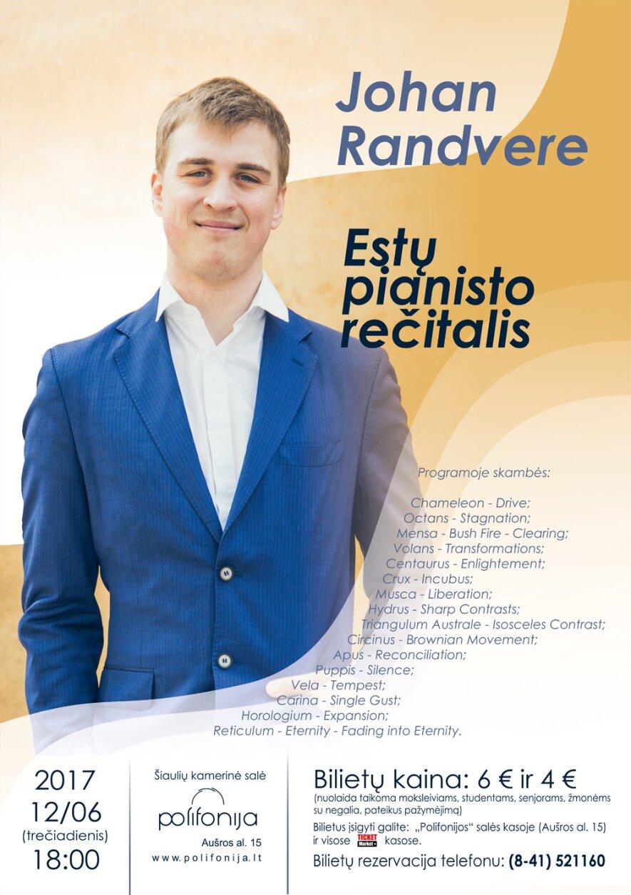 Johan Randvere rečitalis