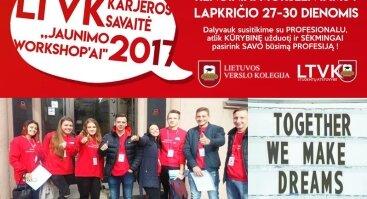 LTVK karjeros savaitė – Jaunimo workshop'ai 2017