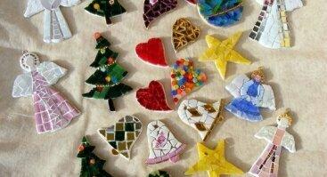 """Kalėdinių žaisliukų dirbtuvės """"Ledo mozaika"""""""