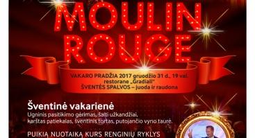 Naujųjų metų sutikimas MOULIN ROUGE