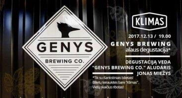 Genys Brewing Co. degustacija su aludariu Jonu Miežiu at Klimas