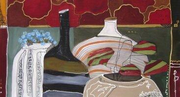 """Gruzinų dailininkės EKA KHUNTSARIA tapybos ant šilko darbų paroda """"Šilko glėbyje"""""""