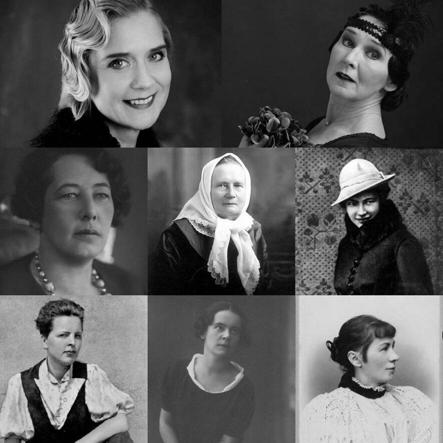 """Istorinio spektaklio """"Šimtmečio moterys"""" eskizas"""