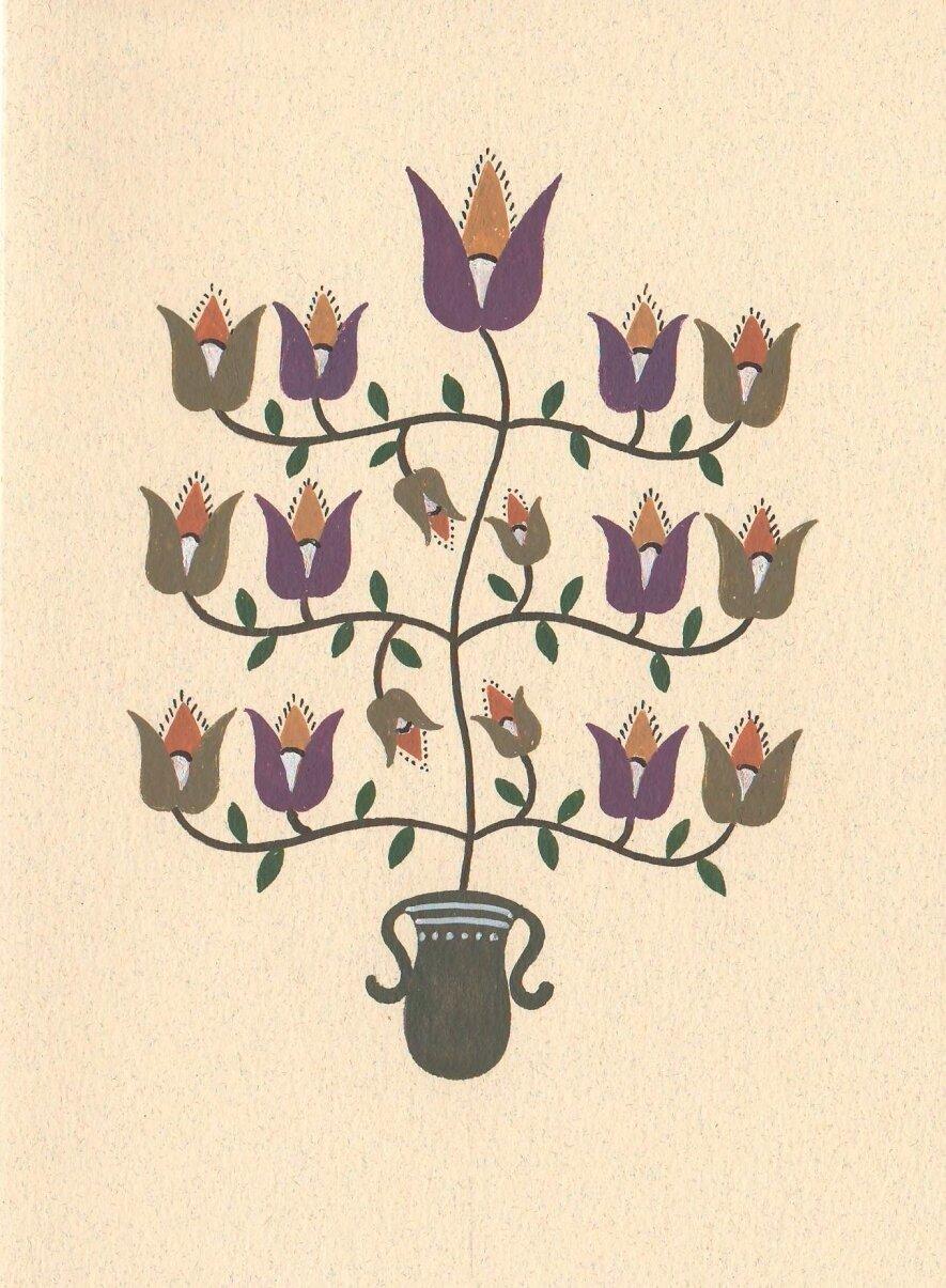 """Zitos Levickienės autorinių atvirukų paroda """"Gėlėti burtai"""""""